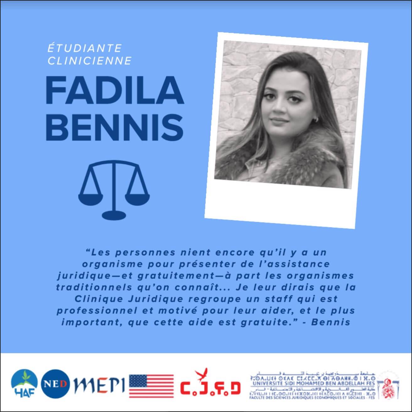 An interview with Fadila Bennis from the Clinique Juridique de la Faculté de Droit (CJFD) in Fez